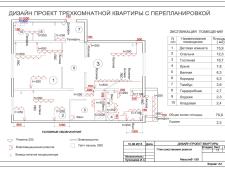 На фото пример работ: Электрика в трехкомнатной квартире, рис. 4
